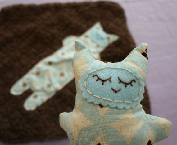 Minky Kitty and Blanket Gift Set