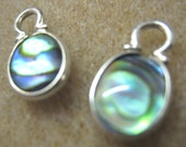 Two Abalone Shell Cabs set in Sterling Silver