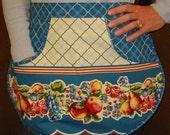 Retro Apron Kitschy Half Apron - Emmas Practical Pocket Everyday Apron