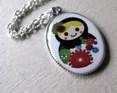 Russian Doll Matryoshka Charm Necklace