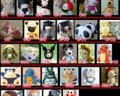 Handmade crafts Amigurumi Animal Doll CROCHET PATTERN Collection christmas gift