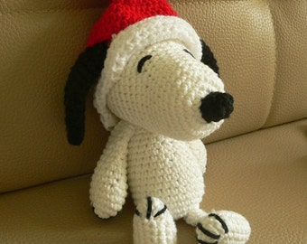 Christmas Amigurumi Santa Claus Snoopy Puppy Dog Crochet Pattern