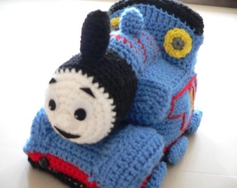 Amigurumi Thomas Friend Train Engine Crochet Pattern Christmas