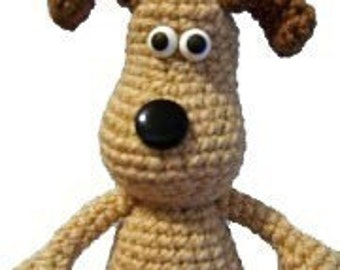 Christmas crafts Amigurumi Animal Gromit Dog Puppy Crochet English Pattern