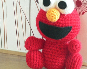Amigurumi Sesame Street Elmo Red Monster Crochet Pattern Christmas