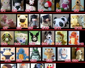 Amigurumi Animal Doll CROCHET PATTERN Collection for Buyer chelsey potter only