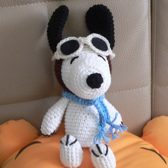Christmas Amigurumi Pilot Snoopy Puppy Dog Crochet Pattern