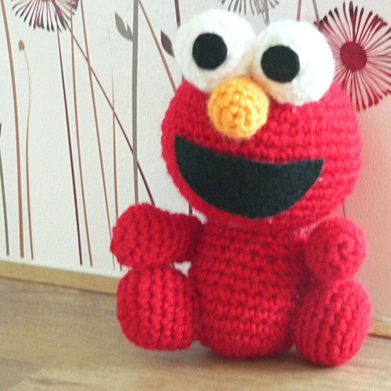 Amigurumi Sesame Street Elmo Red Monster Crochet Pattern