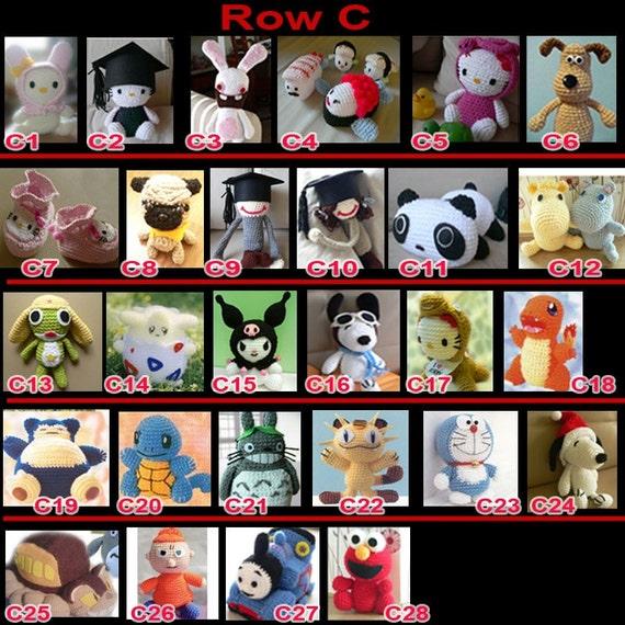 Handmade crafts Amigurumi Animal Doll CROCHET PATTERN Collection summer gift