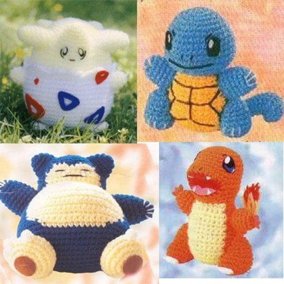 Crochet Pokemon : Amigurumi Pokemon Charmander and snorlax crochet pattern by getfun