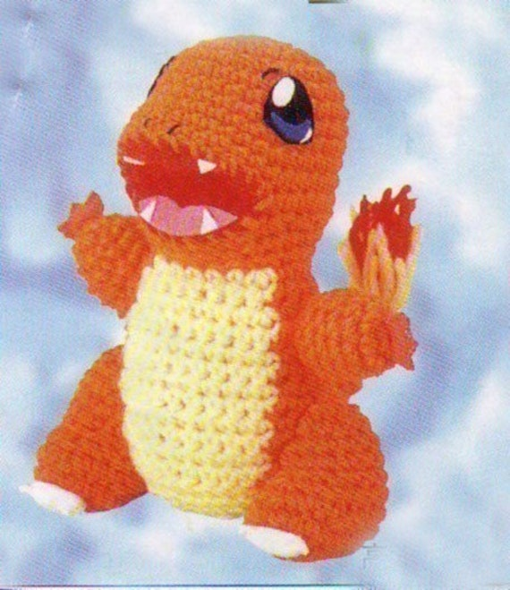 Charmander Amigurumi Free : Amigurumi Pokemon Charmander Dragon Animal Doll crochet by ...