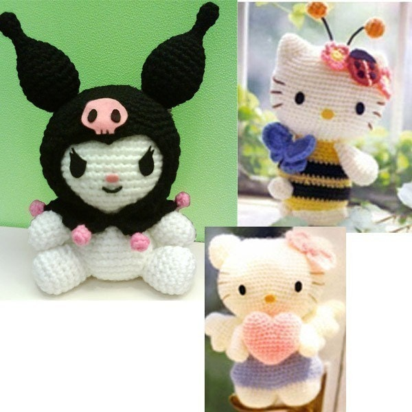 Amigurumi Bumble bee Angel Hello Kitty My Melody Kuromi