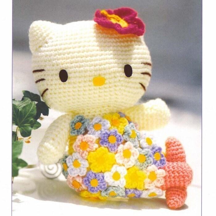 Hello Kitty Amigurumi Ohje Suomeksi : Amigurumi Sanrio Little Mermaid Hello Kitty English Crochet