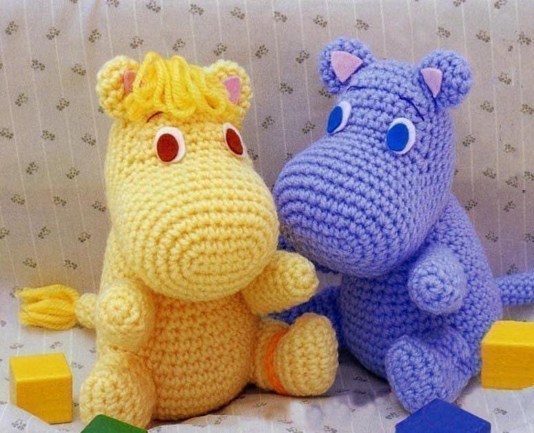 Amigurumi Hippo Moomin muumi mumin snufkin crochet Pattern PDF