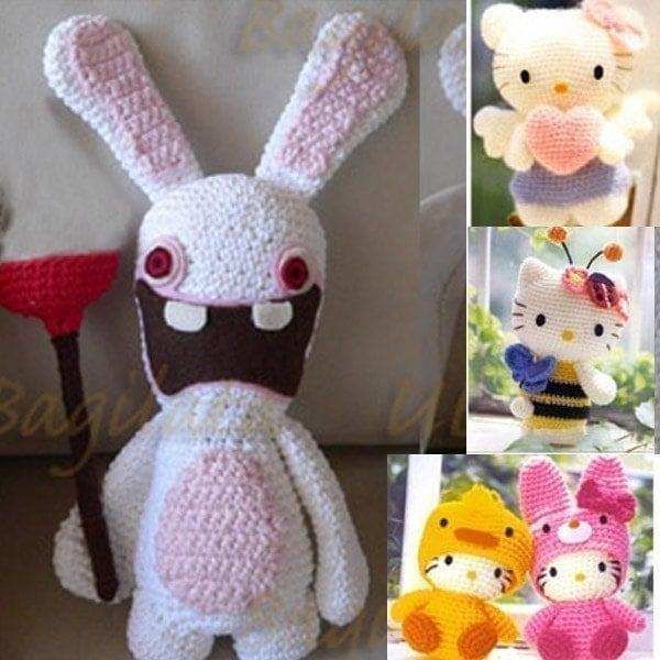 Amigurumi Nintendo Wii Rayman Raving Rabbid Bunny Rabbit Tier