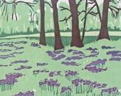 Sweet William, Editioned Woodblock Print, Landscape