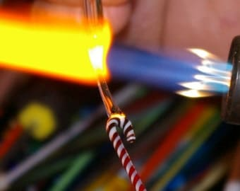 Tutorial for making Lampwork Glass Candy Cane pendants