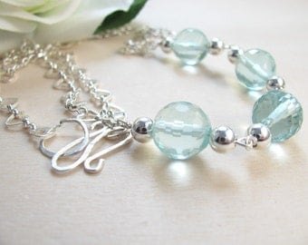 Aquamarine necklace  Aquamarine jewlery