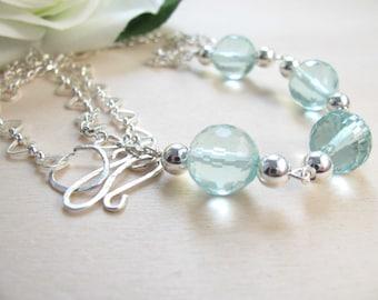 Aquamarine necklace  Aquamarine jewlery