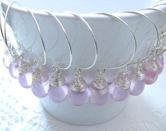 6 pairs Bridesmaid gift  Wedding  Bridesmaid earrings  Bridal jewelry Pink earrings