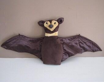 Bashful Bat - halloween minky toy
