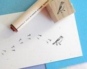 Bird and Bird Tracks Rubber Stamp Set