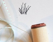 Grass Sprigs Rubber Stamp