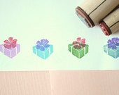 Gift Box Rubber Stamp Set