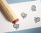 Button Cluster Rubber Stamp
