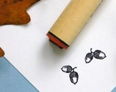 Double Acorn Rubber Stamp