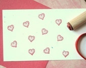 Deco Ginger Heart Rubber Stamp