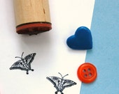 Eyespot Butterfly Rubber Stamp