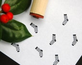 Holiday Stocking Rubber Stamp