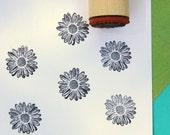 Shasta Daisy Rubber Stamp