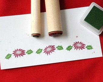Poinsettia and Holly Leaf Stamp Set