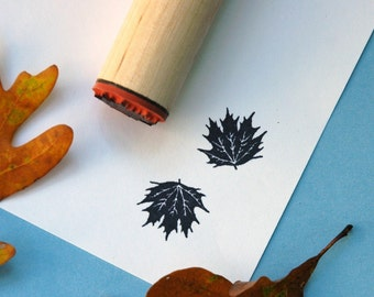Fancy Maple Rubber Stamp