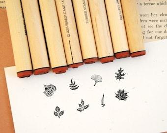 Tiny Leaf Rubber Stamp Sampler