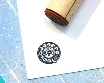 Rotary Dial Rubber Stamp
