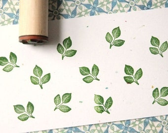 Triple Leaves Solid Rubber Stamp