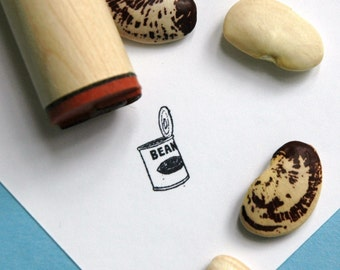 Can of Beans Rubber Stamp