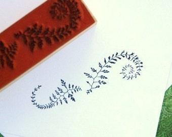 Flourished Fern Border Stamp