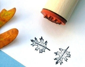 Red Oak Open Rubber Stamp