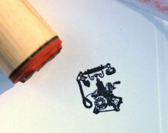 Antique Telephone Rubber Stamp