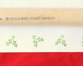 Holly and Berry Rubber Stamp