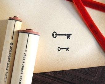 Set of Keys Rubber Stamp Set