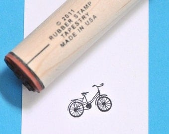 Cruiser Bicycle Rubber Stamp