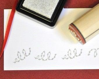 Sparkle Garland Rubber Stamp