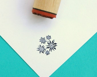 Poinsettia Cluster Rubber Stamp