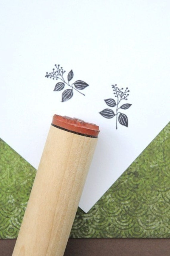 Shade Plant Left Rubber Stamp