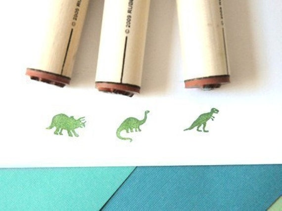 Dinosaurs Rubber Stamp Set